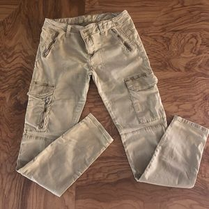 💎🆕EUC Zara Tan cargo slim fit jeans